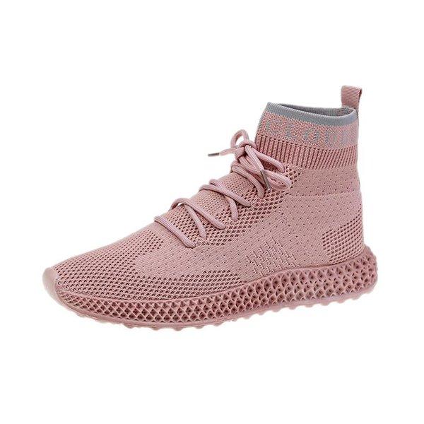 Autunno Casual Scarpe Donna Sport alti morbido a piedi scarpe comode piatto Spesso donne solida piattaforma Sneakers formato 35-40 -61