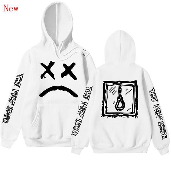 Pkorli Lil Peep Love Sweatshirt Männer Frauen Casual Pullover Hip Hop Lil Peep Rapper Hoodies Trauriges Gesicht Jungen Hoody QJ1