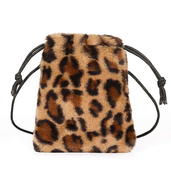 New Fashion Ladies Leopard Drawstring Bag Personality Diagonal Bag Ladies Unique Candy Package
