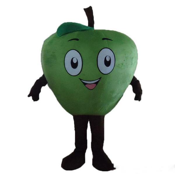 2019 Alta qualità hot Little red Apple Mascot Costume Personaggio dei cartoni animati Costume adulto Fancy Dress Costumi di carnevale di Halloween