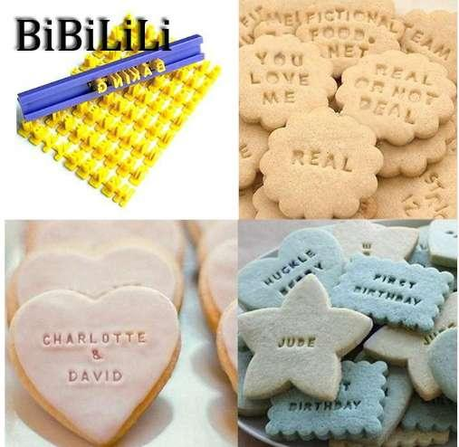 Kitchen Accessories Home Large Fondant Plastic Alphabet Letter Number Mold Cake Decorating Tools Set Baking Cookie Cutter