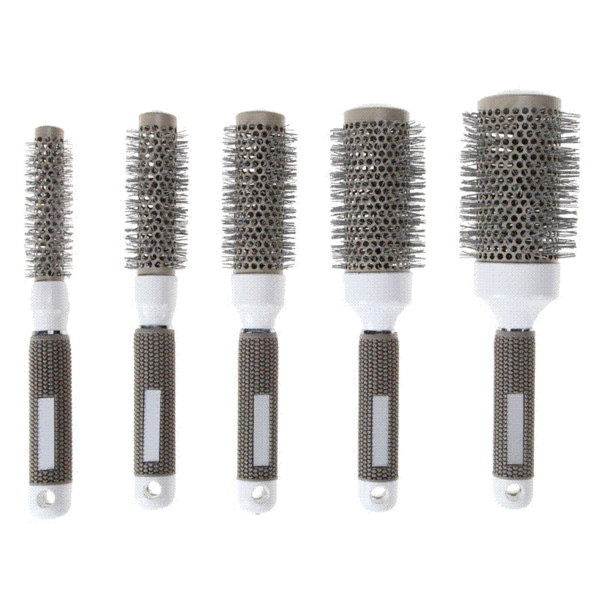 5 Sizes Hair Brush Nano Thermal Ceramic Ionic Round Barrel Comb Hairdressing For Hair Salon Styling Drying Curling Tool