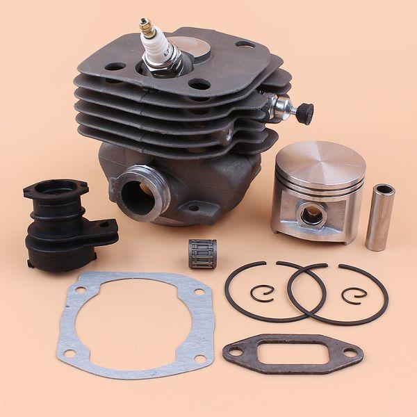 ecompression valve 50mm Cylinder Piston Intake Manifold Decompression Valve Kit For HUSQVARNA 365 371 372 XP 362 Chainsaw Engine Motor Pa...