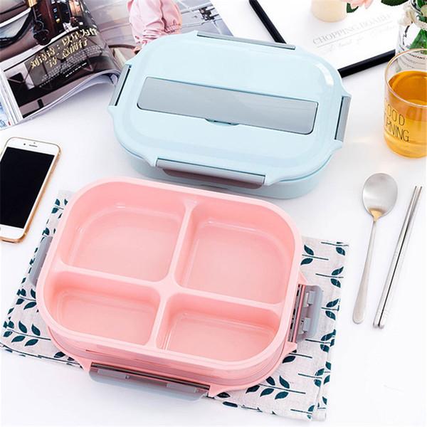 Box lunch paja de trigo Microondas Vajilla Box lunch Calidad Natural portátil caja de almuerzo del compartimiento de alimentos Accesorios de Cocina
