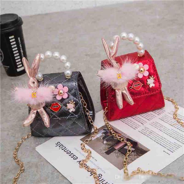 Borse per bambini firmate Le più recenti neonate coreane Fancy Mini Principesse Borse Belle paillettes Coniglio Tote Ragazze Borse a tracolla Regali per bambini