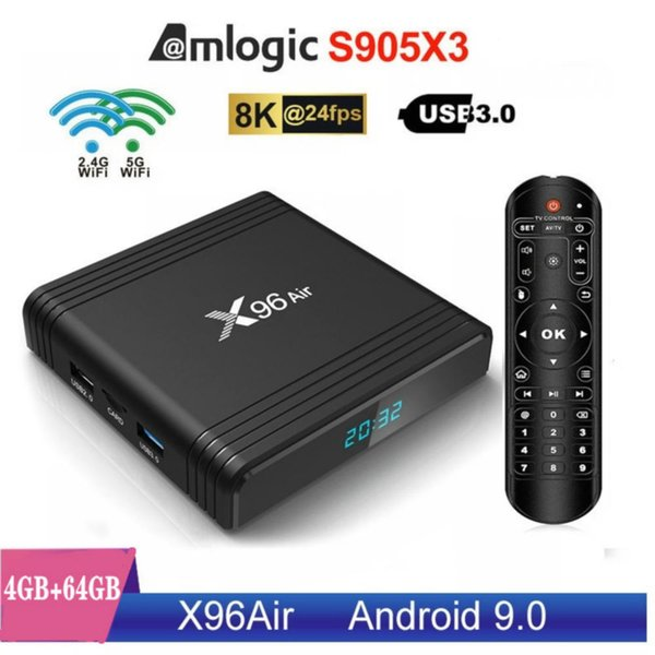 X96 Air,4+64GB,Dual Wifi 2.4G+5G,With BT