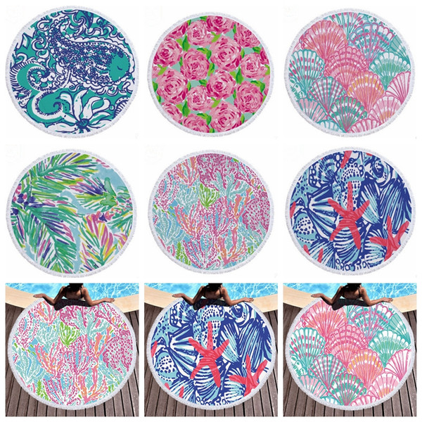 Lily beach towel microfiber round beach towel ta el wall hanging tape trie thick picnic rug women bath towel 8 de ign whole ale dhw2636