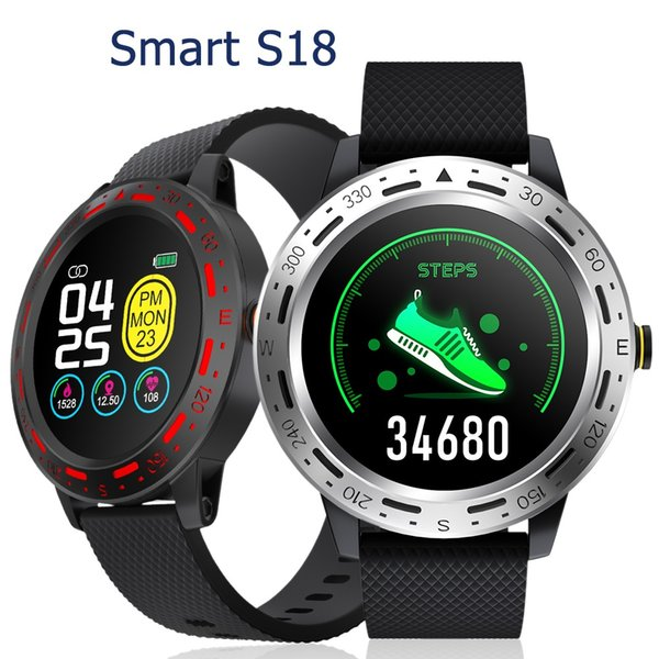Extreme Outdoor Sport Montre intelligent S18 Smartwatch Tracker Fitness IP67 Sync Rappel de message à distance instantané photo avec le paquet détail