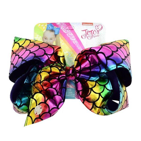 Cardboard Twinkling jojo bows baby girl hair barrettes Rainbow Sequins Mermaid Unicorn Clippers Girls Hair Clips JOJO SIWA Hair Accessories