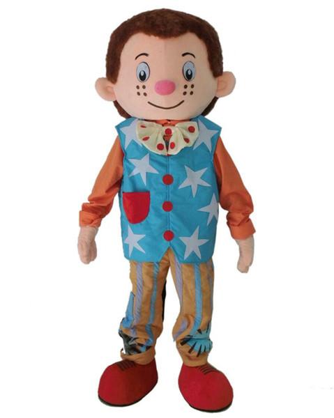 novoMr. Traje da mascote do traje da mascote do menino da mascote para o traje adulto de Halloween Carnaval