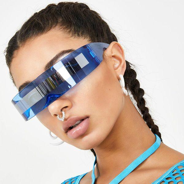 Future Soldier Occhiali da sole Strano siamese modo del partito di Halloween Occhiali Forniture decorazioni goccia Gafa de sol