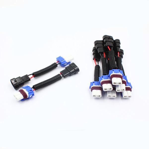 9005 9006 HB3 HB4 Car Headlight Bulb Light Connector Harness Wire Plug Male/Female Extension Ceramic Socket