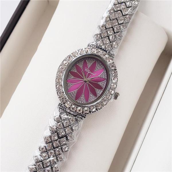 2019 New Chegou Mulheres Top Fashion Dress Relógios Diamante Quartz Aço Belt Casual Relógios de pulso Vida impermeável Relógio de luxo Relógio
