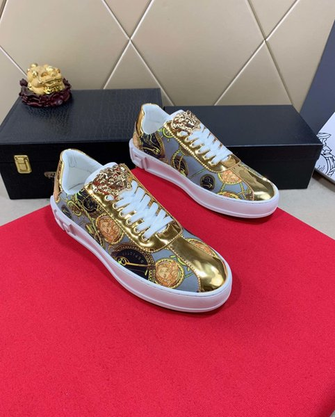2019x fashion men's high-end handmade sports shoes casual shoes new, code 35-45, send a full set of original shoe box DHL logistics delivery
