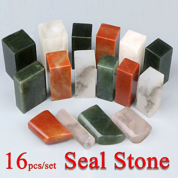 16 Pcs/set Chinese Name Stamp Stone Seal Letter Sealing Wax Stamp For Painting Calligraphy Art Supply Y19061804