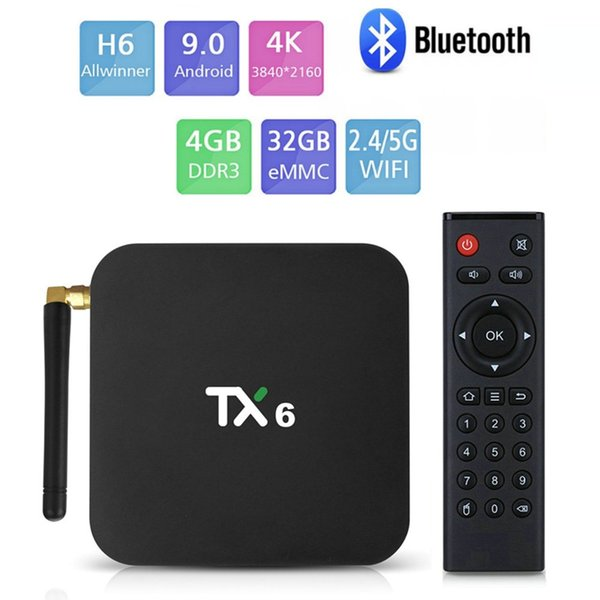 TX6,4GB + 32GB, 2.4G + 5G WiFi, com a BT