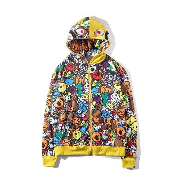 Cartoon Qualitäts Von Männer Bape0169 55 Mode Großhandel Sweatshirts S Frauen Beiläufige Mens Bape Auf Menshoodies Jacken Xl Designer 1JTl3KcF