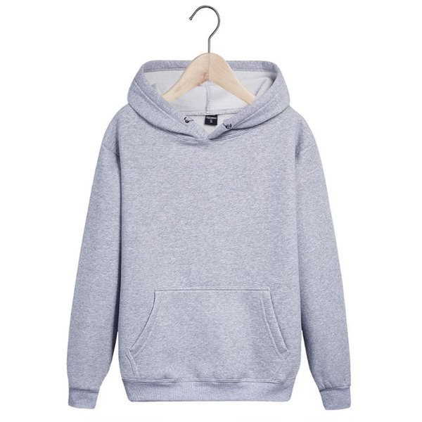 Women Unisex Winter Long Sleeve Hoodies Drawstring Basic Solid Color Hip Hop Sweatshirt Student Thicken Loose Pullover Top