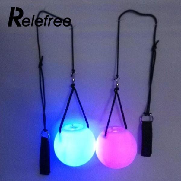 1 pc LED Poi Jogado Bolas de Fulgor para Dança Do Ventre Dança Adereços de Mão de Dança