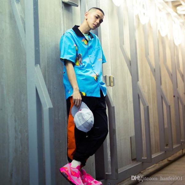 18ss Golf Wang Blue Bee Shirt Giacca oversize Top Uomo Donna Cappotto Moda Casual Sport Street Outwear Jacket Hflscs013