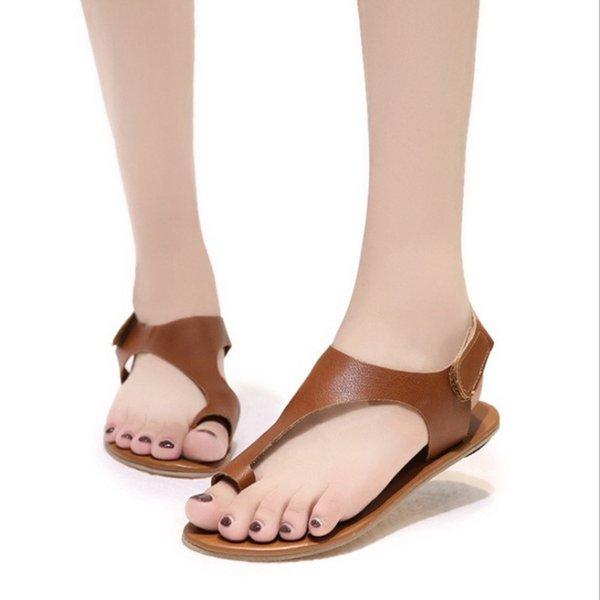 diseño innovador 7db58 f7572 Compre SHANGPREE Mujer Sandalias 2019 Clip Toe Sandalias Planas Verano  Casual Zapatos De Mujer Roman Sandalia Feminina Zapatillas Mujer A $21.66  Del ...