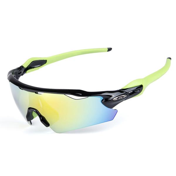 Lunettes de soleil de haute qualité Lunettes de soleil à vélo avec 5 verres de lunettes de soleil à l'épreuve du vent 100% UV400