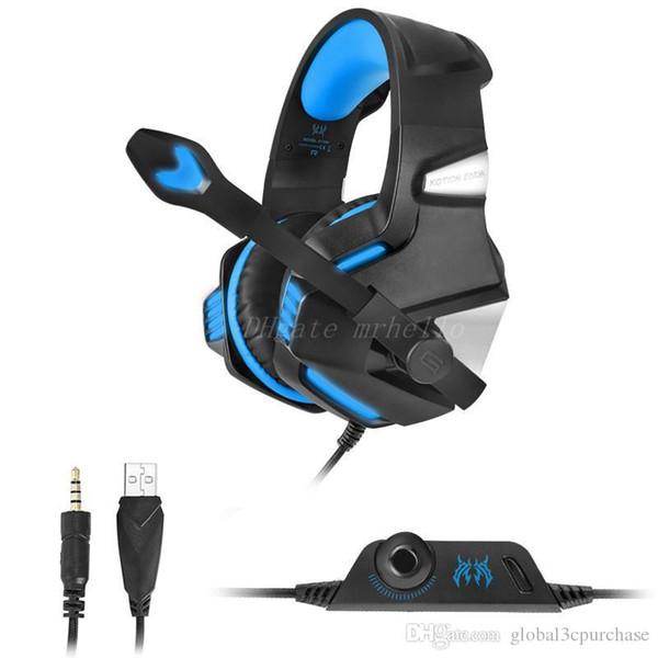 Nuevo Injoo G7500 juego de cable de reducción de ruido montado en la cabeza audífonos geniales de juego con brillo fresco auriculares estéreo auriculares estéreo