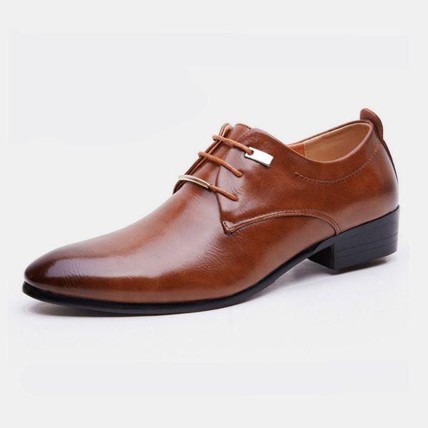 İş Lüks OXford Ayakkabı Erkekler Nefes Deri Ayakkabı Resmi Elbise Erkek Ofis Parti Düğün Zapatos De Hombre