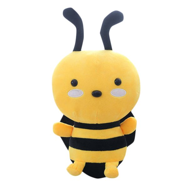 Lovely Soft Little Bee Animal Doll Stuffed Plush Toy Home Party Wedding Kid Gift Regular Soft Animal Collection Doll Toy M0109