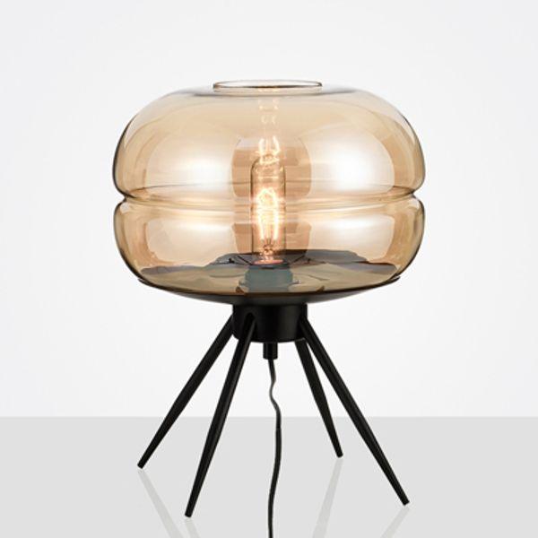 Amber glass lampshade