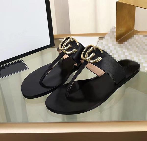 Kadın Sandalet Tasarımcı Ayakkabı Lüks Slayt Yaz En Iyi Moda Geniş Düz Kaygan Sandalet Terlik Flip Flop xx19042301