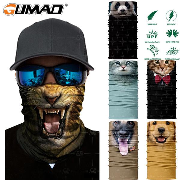 3D Animal Sem Costura Magia Pescoço Gaiter Máscara Facial Warmer Escudo Esporte Ciclismo Camping Pesca De Esqui Bandana Headband Cachecol Das Mulheres Dos Homens