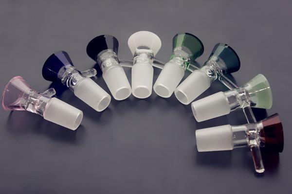 QBsomk pièce de bol épais pour diapositives bong de verre entonnoir bols tuyaux 5mm bongs fumer couleur rose capiteux grossiste plate-forme pétrolière pièces 14mm 18mm