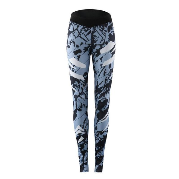 stitching sports pants yoga pants workout running fitness stylish print sport active wear for women ladies fashion gym pant - from $27.72