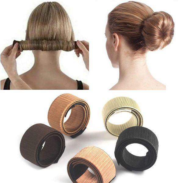 Maker Women Girls Kids Magic Hair Styling Donut Bun Maker Former Twist Hairstyle Clip Diy Doughnuts Hair Bun Tools Bun Hair Donut Bun Donuts From