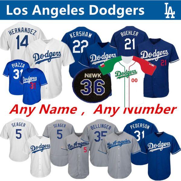 LA Dodgers Jerseys Clayton Kershaw Alex Verdugo Corey Seager Justin Turner Kike Hernandez Cody Bellinger Walker Buehler Fernando Valenzuela