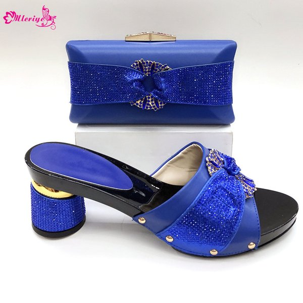 Hot Sales Thin high heel women sandal Party shoes with matching clutches bag free shipping italian shoes and bag set For Wedding