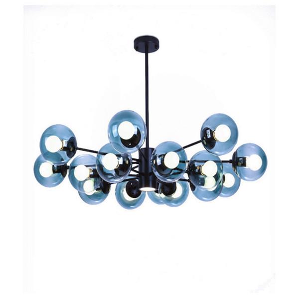 Il lampadario a personalità creativa nordico ha condotto la lampada della camera da letto della camera da letto del ristorante lampada a sfera rotonda in ferro battuto