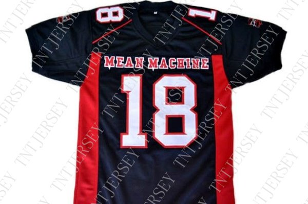 wholesale Paul Crewe #18 Mean Machine Longest Yard Football Jersey Black Stitched Custom any number name MEN WOMEN YOUTH Football JERSEY