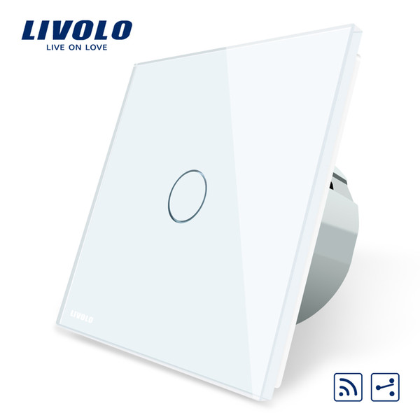 Livolo EU Standard Wireless Switch 1Gang 2 Way, AC 220~250V ,With Remote Function,no remote controller