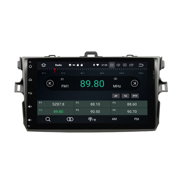 """Android 8.0 Octa Core 2 din 9"""" Car DVD Radio GPS for Toyota Corolla 2006-2011 With 4GB RAM 64GB ROM Bluetooth WIFI USB Mirror-link"""