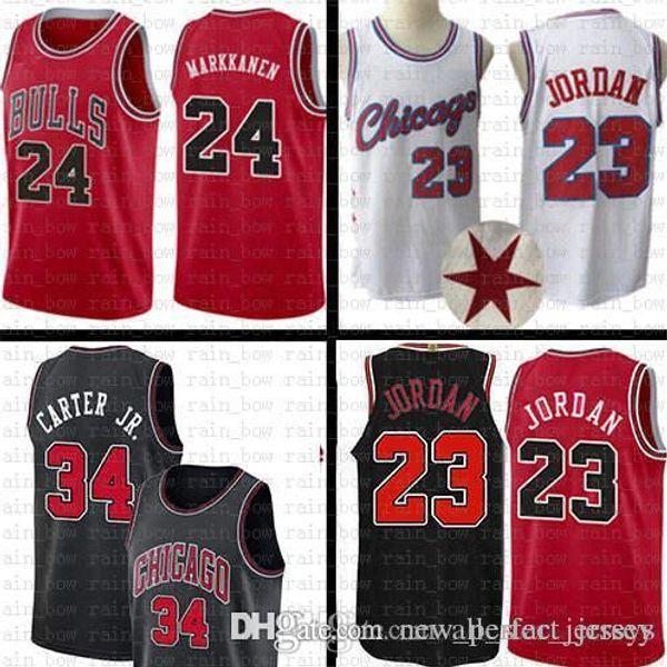 cab88386df0e Mens Chicago Jersey Bulls 23 Michael Zach 8 LaVine Lauri 24 Markkanen  Wendell 34 Carter Jr