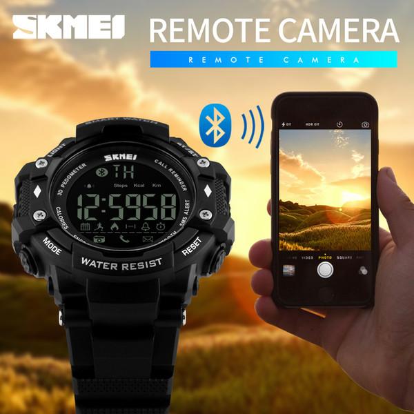 Smartwatch SKMEI Erkekler Akıllı İzle Moda Spor Saatleri Pedometre kalori Bluetooth Spor Izci Dijital Saatı
