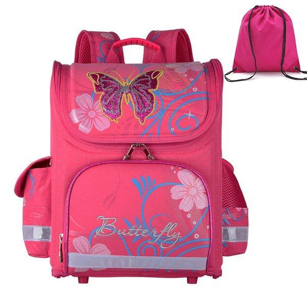 mariposa de color rosa