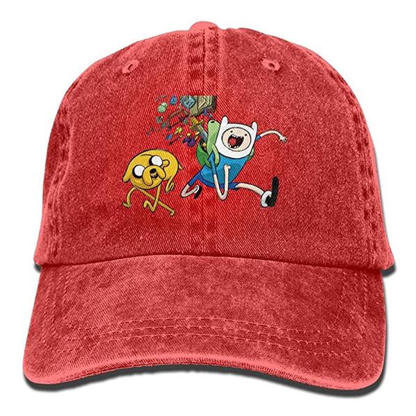 2019 Nouvelle Casquette de baseball Plain Adventure Time avec Finn Jake Tendance Impression Cowboy Hat Mode Casquette de baseball pour Hommes et Femmes Noir
