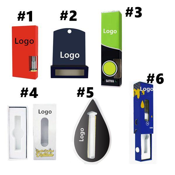 Custom box package electronic cigarettes sticker flavor emtpy oil vape cartridge package mylar bag blister bag