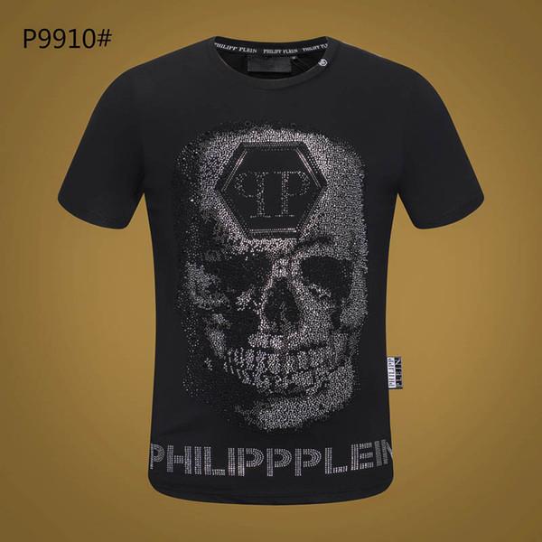 T-shirt des hommes d'été Tendance Homme Mode Cristal Impression Hommes T-Shirts Casual Slim luxe Hip hop T-shirt T-shirts Streetwear Homme Tops # P337