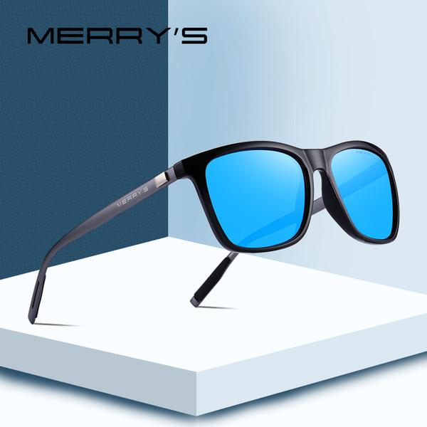 Luxury- MERRY'S Марка Унисекс Ретро Алюминий + TR90 Солнцезащитные очки Поляризованные линзы Очки Аксессуары Солнцезащитные очки для мужчин / женщин S'8286N