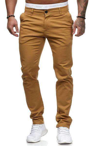 Slim Designer Mens Pants Stretch Solid Color Straight Mens Long Pants Summer Mid Waist Male Apparel