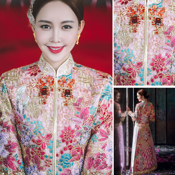 XiuHe serve toast the new 2018 married Chinese style dress wedding dress suit cheongsam more than ancient name was raining